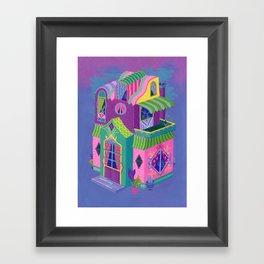 Balcony House Framed Art Print