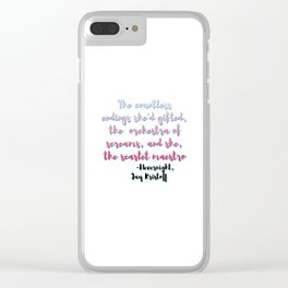 Scarlet Maestro | Nevernight, Jay Kristoff Clear iPhone Case