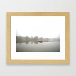 landing stage. Framed Art Print