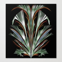 Retro Abstract Floral Design Canvas Print