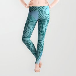 sea wave 4 Leggings