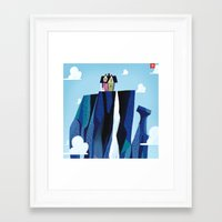 pixar Framed Art Prints featuring A Pixar Adventure! by Create The Crown!
