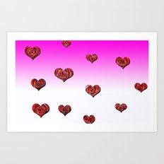 Raining Roses  Art Print
