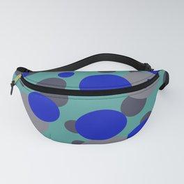 bubbles blue grey turquoise design Fanny Pack