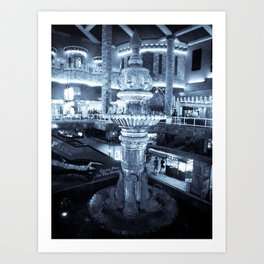 Twilight Fountain Art Print