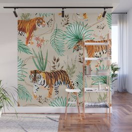 Tropical & Tigers Wall Mural