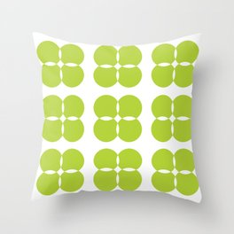 Lime Green Bejeweled Circles Throw Pillow