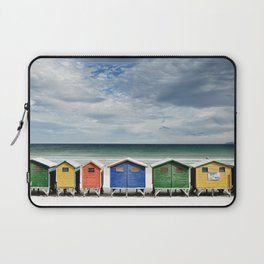 Beach Huts - Colorful houses and Sea, Cape Town, South Africa Laptop Sleeve
