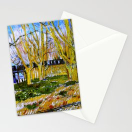 Avenue of Plane Trees near Arles Station, Vincent van Gogh Stationery Cards