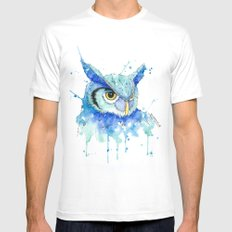 Color Hedwig  MEDIUM White Mens Fitted Tee
