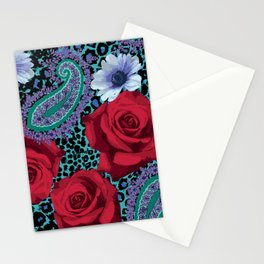 Rose Paisley w skin Stationery Cards