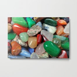 Colorful Stones Texture Metal Print