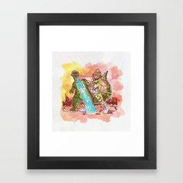 Macho King of Monsters Framed Art Print