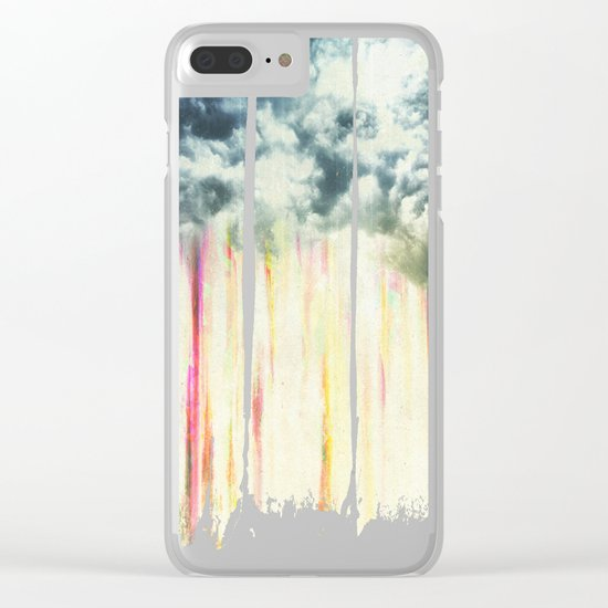 Let it rain on me Clear iPhone Case