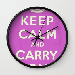 Keep Calm and Carry On Vintage worn Wall Clock