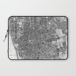 Vintage Map of Liverpool England (1890) BW Laptop Sleeve