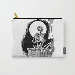 Skeleton waiting Carry-All Pouch