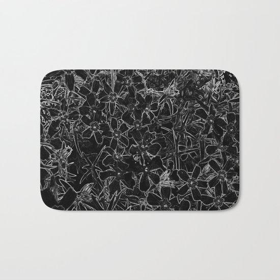 Flower | Flowers | Black and White Flox Graphic Bath Mat