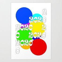 Gen X 2020 Dots Collection Art Print