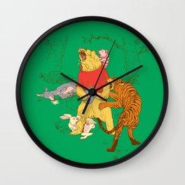 A Very Naughty Bear Wall Clock