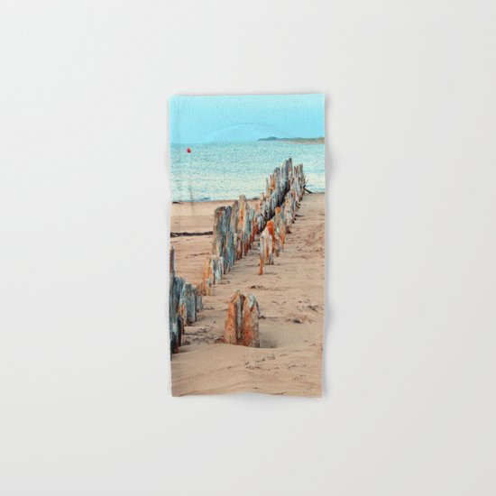 Wharf Remains on the Beach Hand & Bath Towel