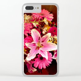 Flower mix Clear iPhone Case