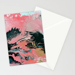 Coral Overture Stationery Cards