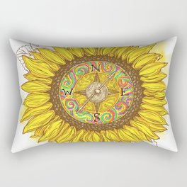 Sunflower Compass Rectangular Pillow