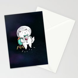 Space Kitty - Wine Time Stationery Cards