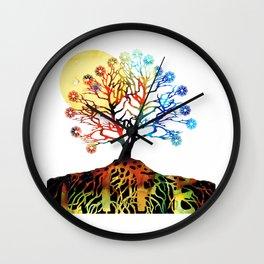 Spiritual Art - Tree Of Life Wall Clock