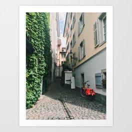 Cheerful Alleyway in Lucerne Art Print