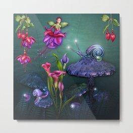 Beautiful Fuchsia Faerie Garden Metal Print