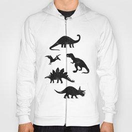 Black + White Dinosaurs Hoody