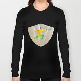 Fencing Side Shield Retro Long Sleeve T-shirt