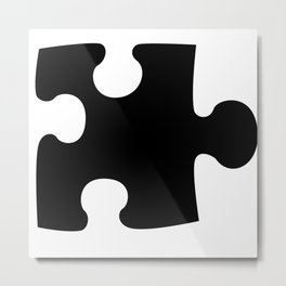 The Missing Piece Metal Print