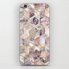 Blush Quartz Honeycomb iPhone & iPod Skin