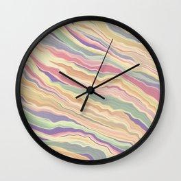 Retro Marbled Print  Wall Clock