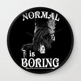 Gomez: Normal is Boring Wall Clock