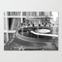 Turntable Canvas Print
