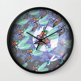MOSQUITO MADNESS Wall Clock