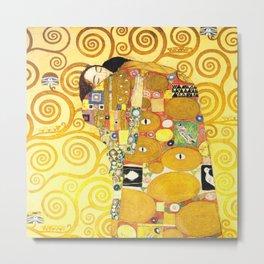 "Gustav Klimt ""Fulfillment"" Metal Print"