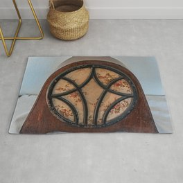 antique intercom used in the kitchens of a historic residence Rug