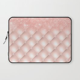 Luxury Rosegold Glitter Pearl Laptop Sleeve