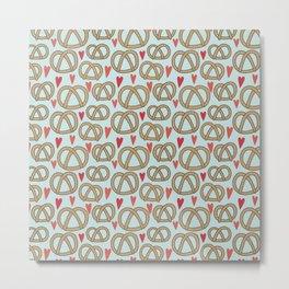 Pattern Project #43 / Pretzel Love Metal Print
