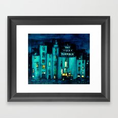 blue castle Framed Art Print