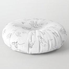 Hands of a Working Woman Floor Pillow