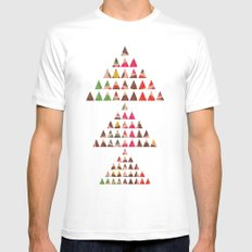There Will Always Be Mountains To Climb SMALL White Mens Fitted Tee