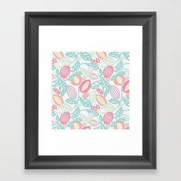 Pastel Fruits Framed Art Print
