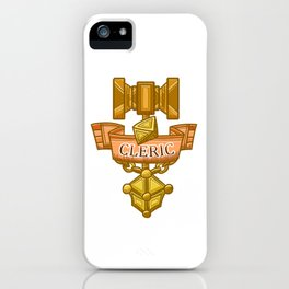 Cleric Hammer, d8 and Lantern Coat of Arms iPhone Case