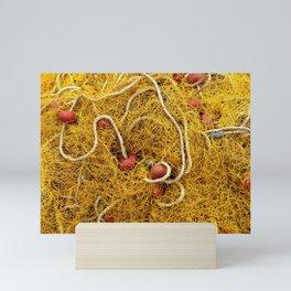 Orange Fish Net Fishing Mini Art Print